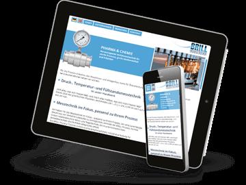 Bilinguale Website mit Mobiloptimierung für Industrie-Firma