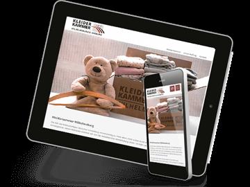 Responsive Webdesign Kleiderkammer