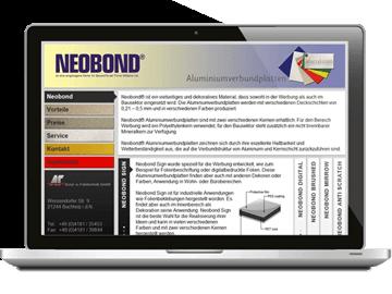 Firmen-Homepage - Neobond Werkstoff