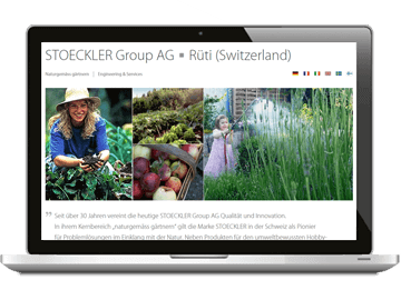 Mehrsprachige Website Stoeckler Group AG Schweiz