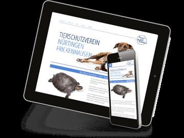 Mobiloptimiertes Webdesign Tierschutz Nürtingen