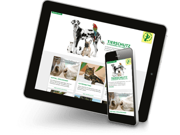 Mobiloptimierte Website - Tierschutzverein Pinneberg