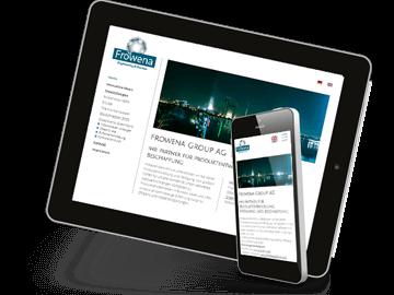 Website von Erfinder- und Engineering-Firma aus Rüti / Schweiz