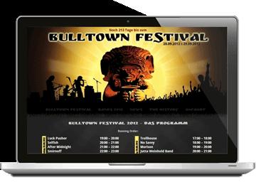 Website Festival Bullenkuhlen