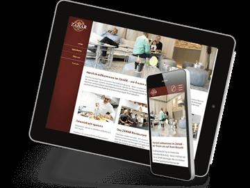 Restaurant-Website mit Online-Speisekarte