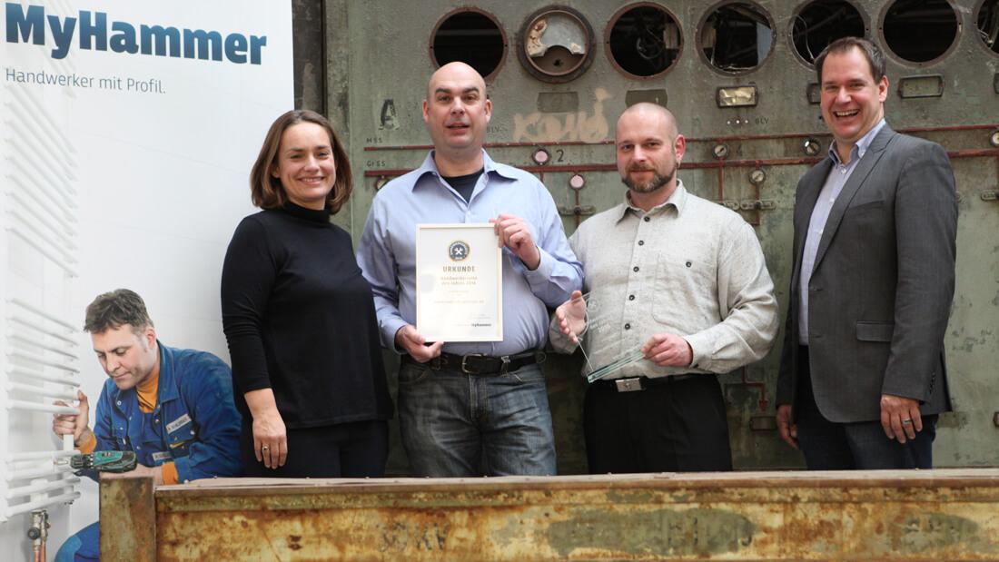 MyHammer - Handwerkerseite des Jahres 2016 - Sieg in der Kategorie KFZ