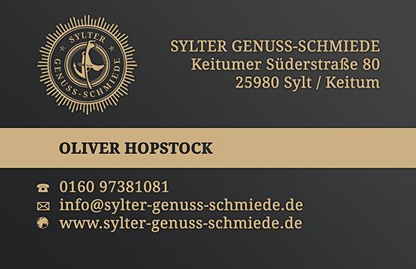 Druckvorlage für Visitenkarte mit Sonderfarbe Gold