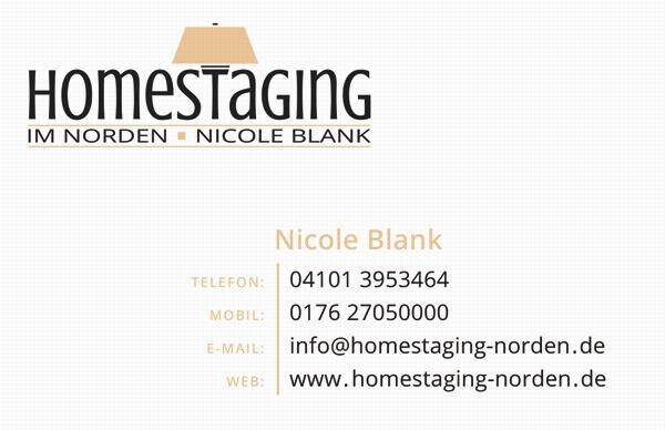 Visitenkarten-Erstellung Home Staging - Rückseite