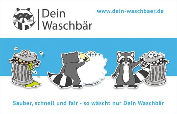 Professionelle Visitenkarten mit Werbeslogan
