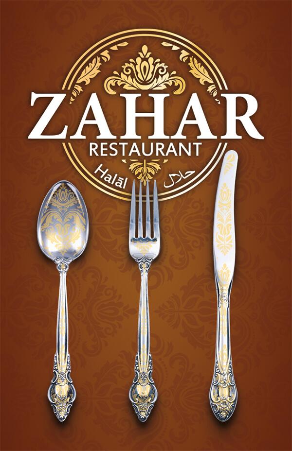 Restaurant Visitenkarte mit Besteck