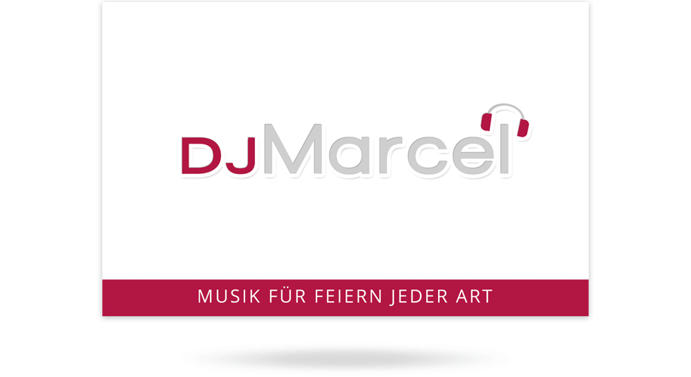 Visitenkarte DJ Marcel - Vorderseite