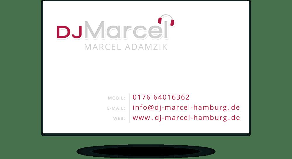 Printdesign Moderne Visitenkarten Für Disc Jockey