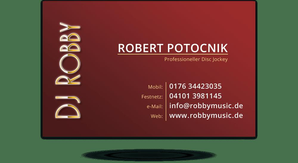 Visitenkarte Disc Jockey - Rückseite