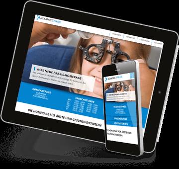Die Homepage für Ärzte und Praxen