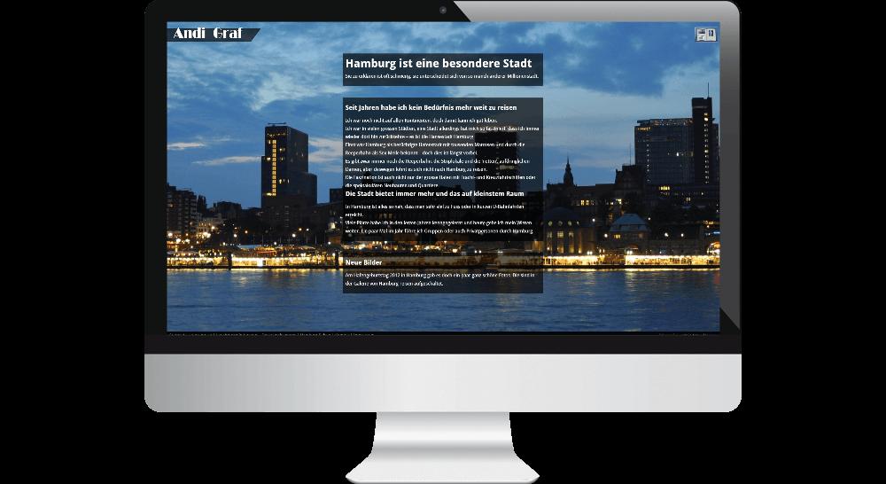 CMS-Website mit Bilder-Galerie