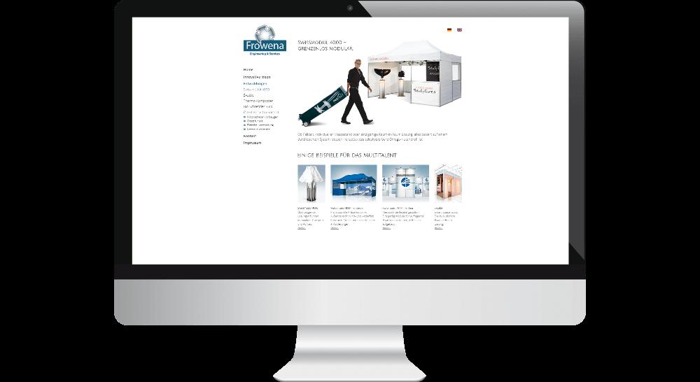 Desktop-Webdesign mit einem für den Print-Bereich typischen Layout