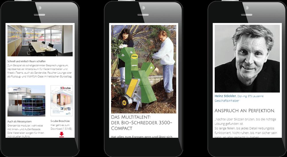 Responsive Webdesign in Smartphone-Darstellung