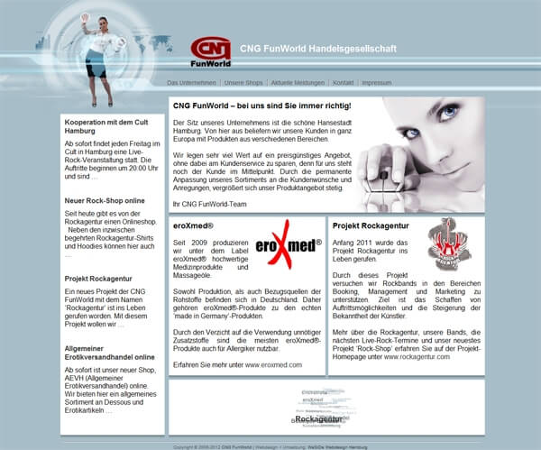 CMS Homepage Handelsgesellschaft Hamburg - Webdesign