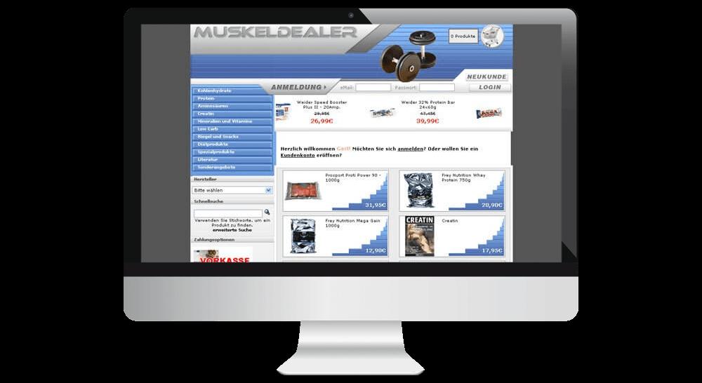 Onlineshop für Fitnessprodukte - Webdesign OS Commerce
