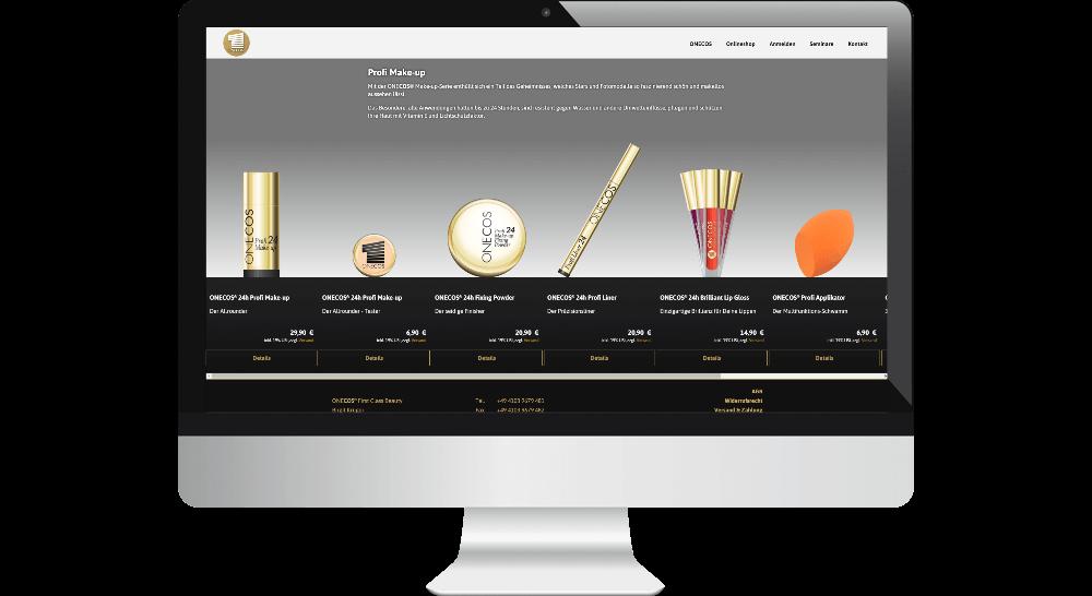 Produkt-Darstellung im Onlineshop des Kosmetik-Herstellers