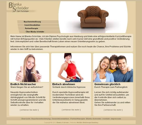 Website der Psychologin aus Hamburg - Webdesign