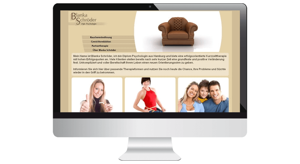 Website der Psychologin aus Hamburg - Webdesign