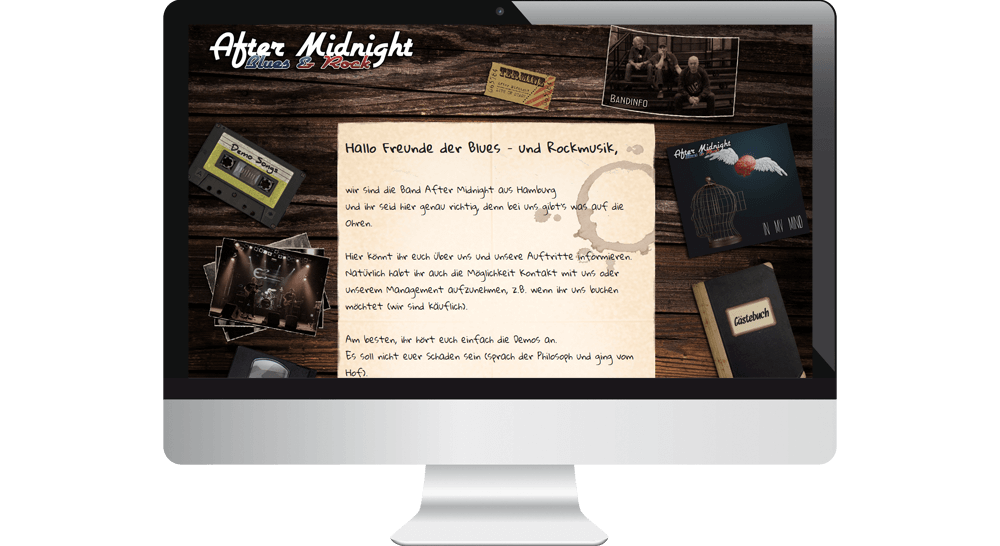 Homepage der Rockband After Midnight