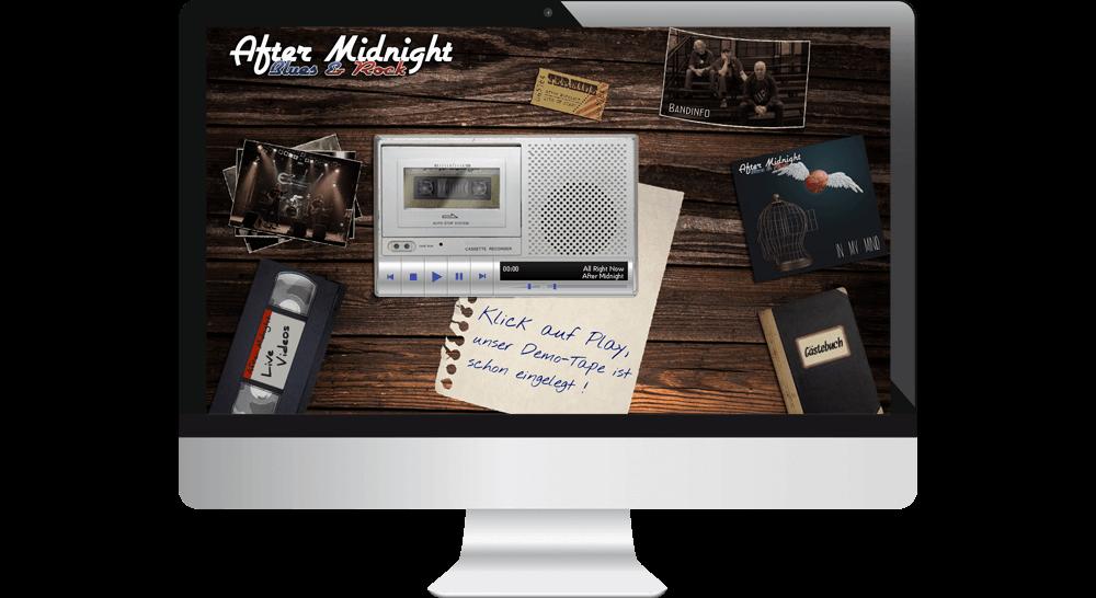 Musik-Proben über virtuellen Kasettenrecorder auf der Homepage