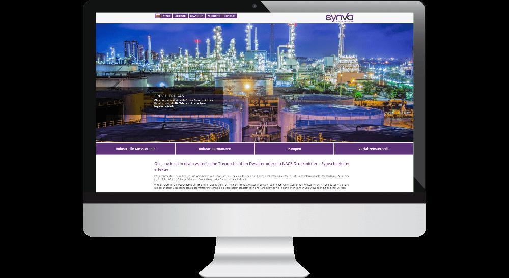Website für Erdöl-Erdgas-Branche - Darstellung des Webdesigns auf Desktop-Bildschirm