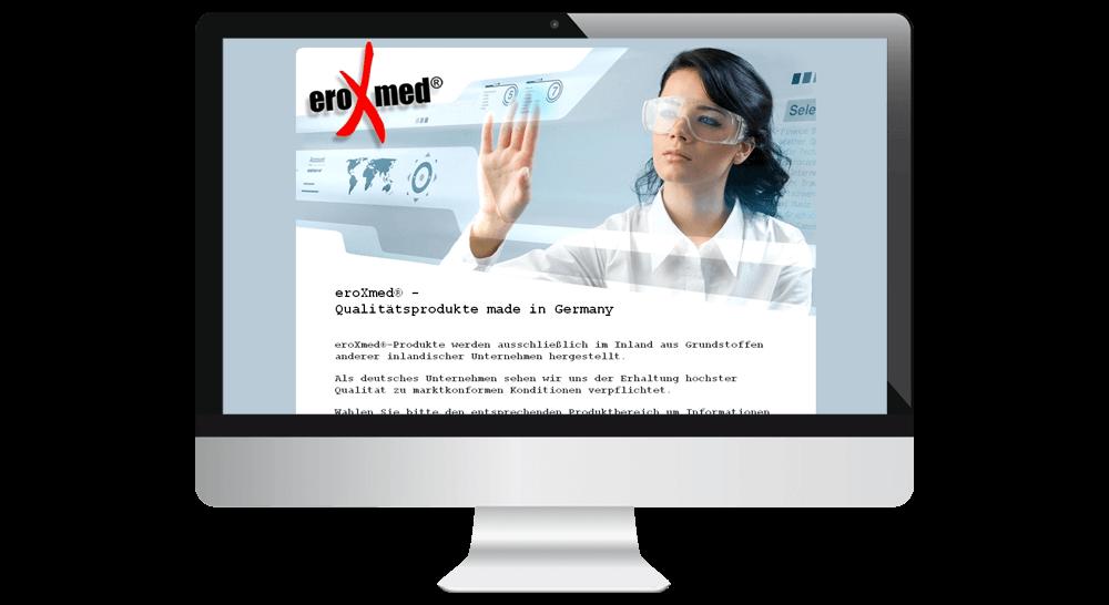 Firmenhomepage - Webdesign für Medizinprodukte-Hersteller aus Hamburg