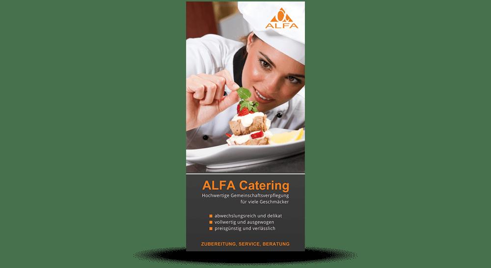 Flyer-Werbung Alfa Catering - Deckblatt