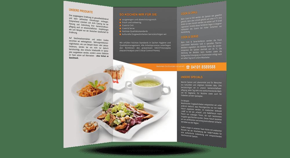 Innenseite - Catering-Flyer mit modernem Design
