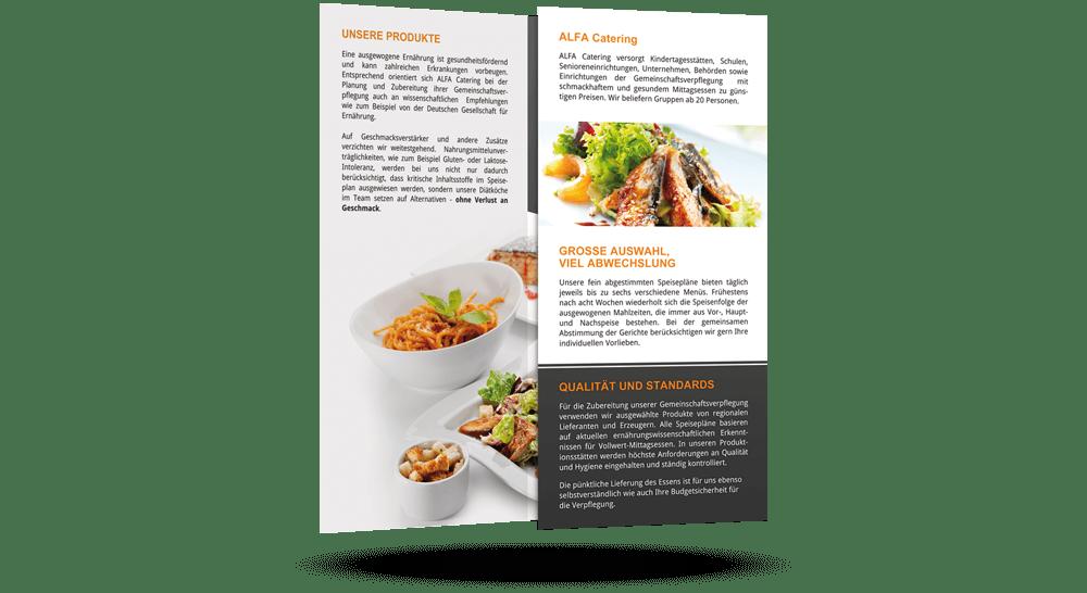 Catering-Faltflyer - mehrteilig - offen