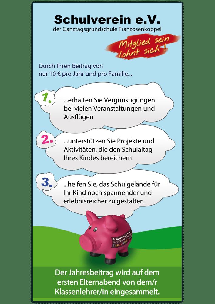 Flyer DIN lang Schulverein Hamburg - Rückseite