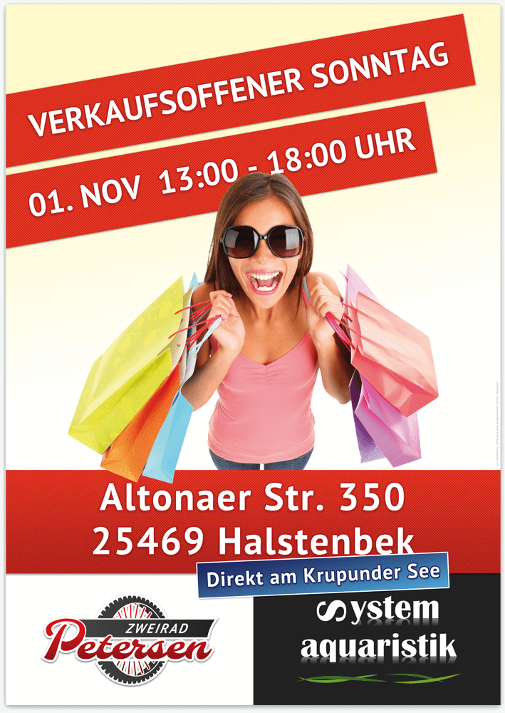 Werbeplakat Verkaufsoffener Sonntag - Werkstatt und Handel