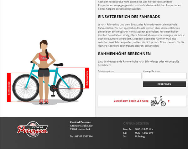 Rahmen-Rechner als Service für den Onlineshop